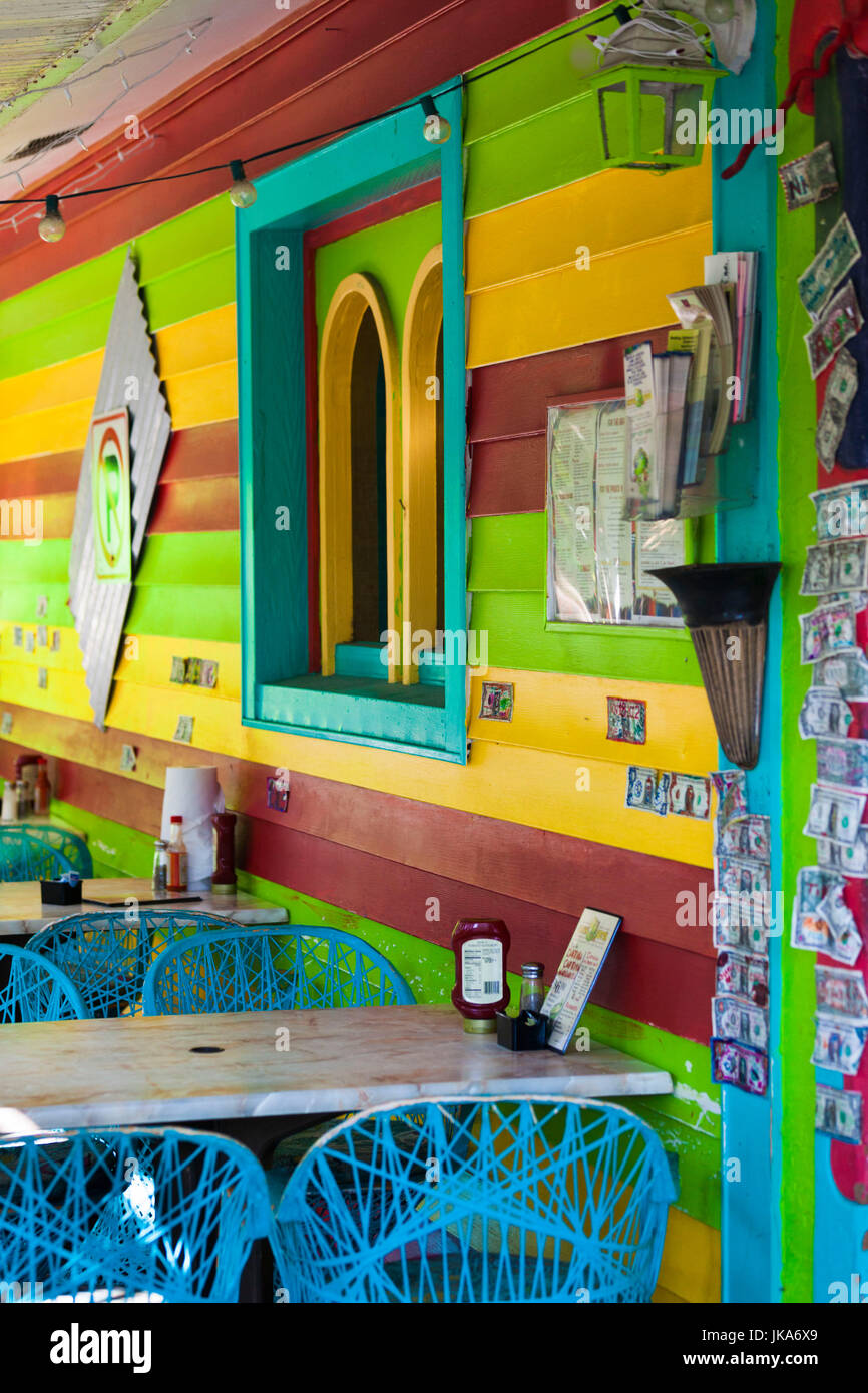 USA, Florida, Gulf Coast, Captiva Island, detail of colorful cafe Stock Photo