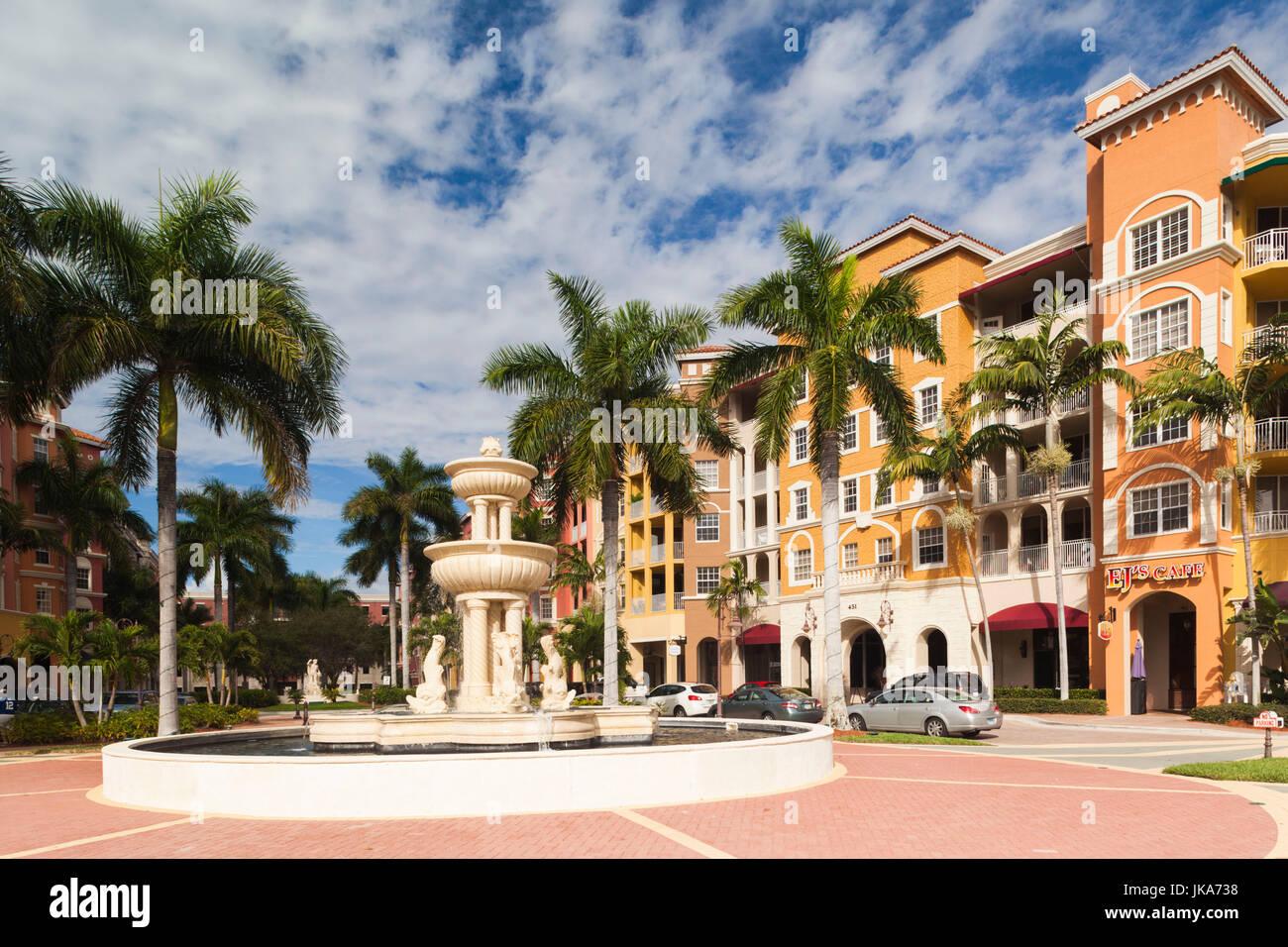 USA, Florida, Gulf Coast, Naples, Bayfront - Stock Image