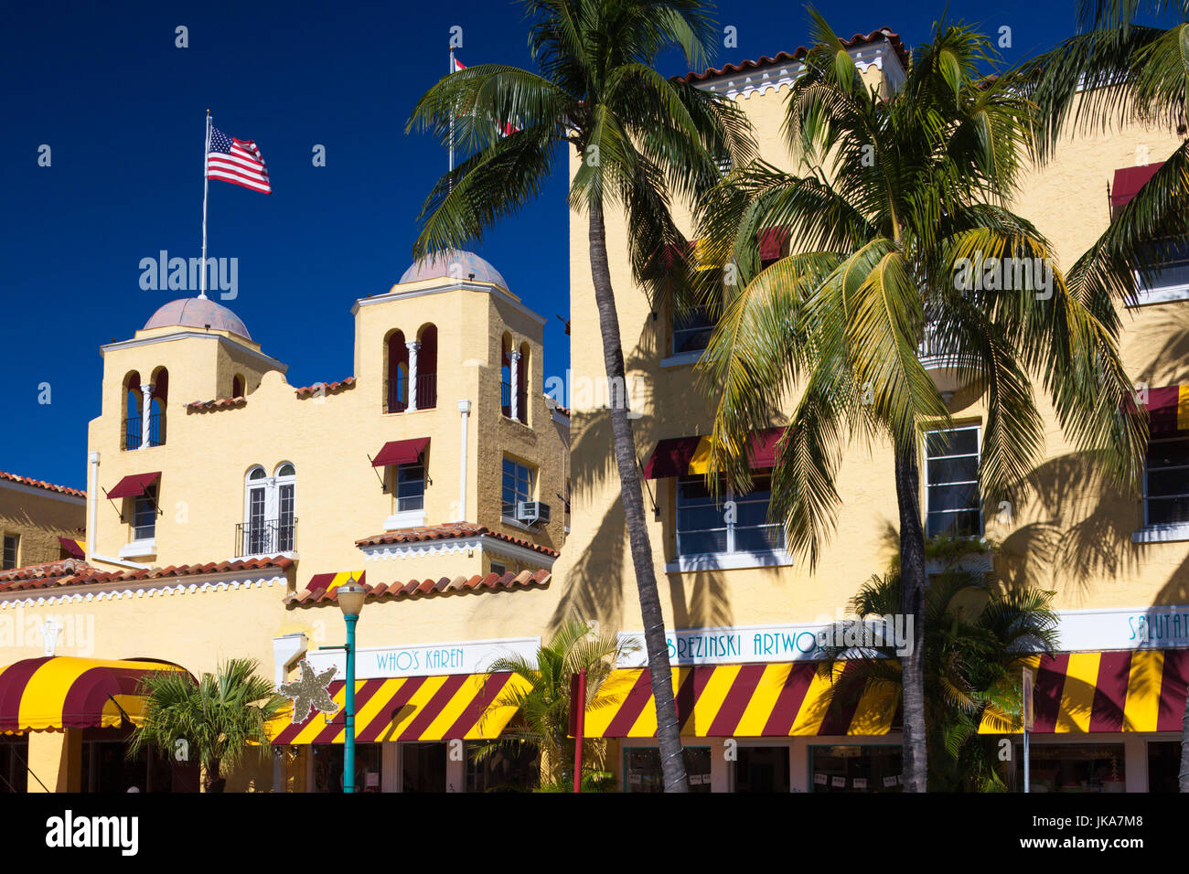 USA, Florida, Delray Beach, Colony Hotel and Cabana Club - Stock Image