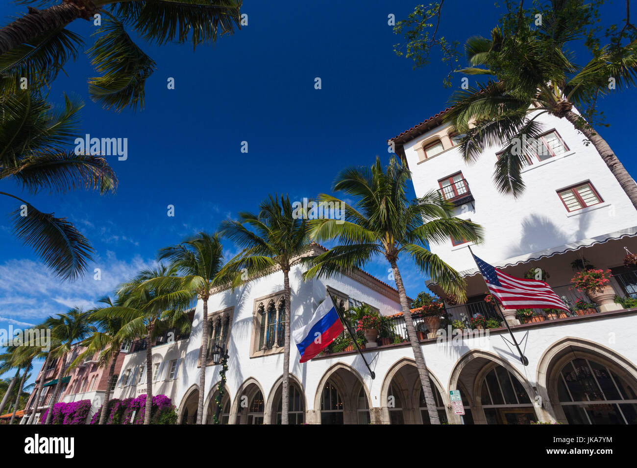 USA, Florida, Palm Beach, Worth Avenue Stock Photo