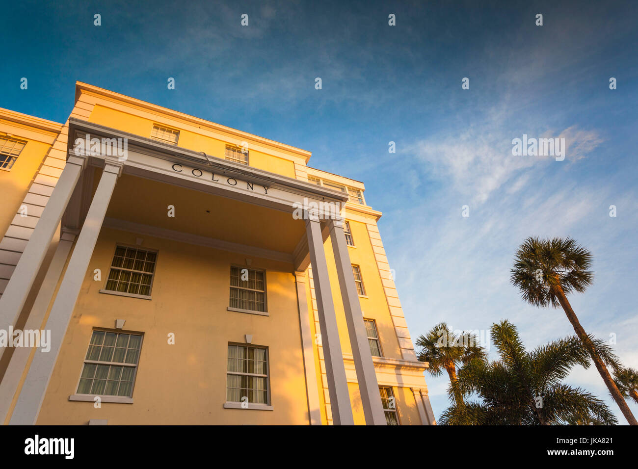 USA, Florida, Palm Beach, The Colony Hotel - Stock Image