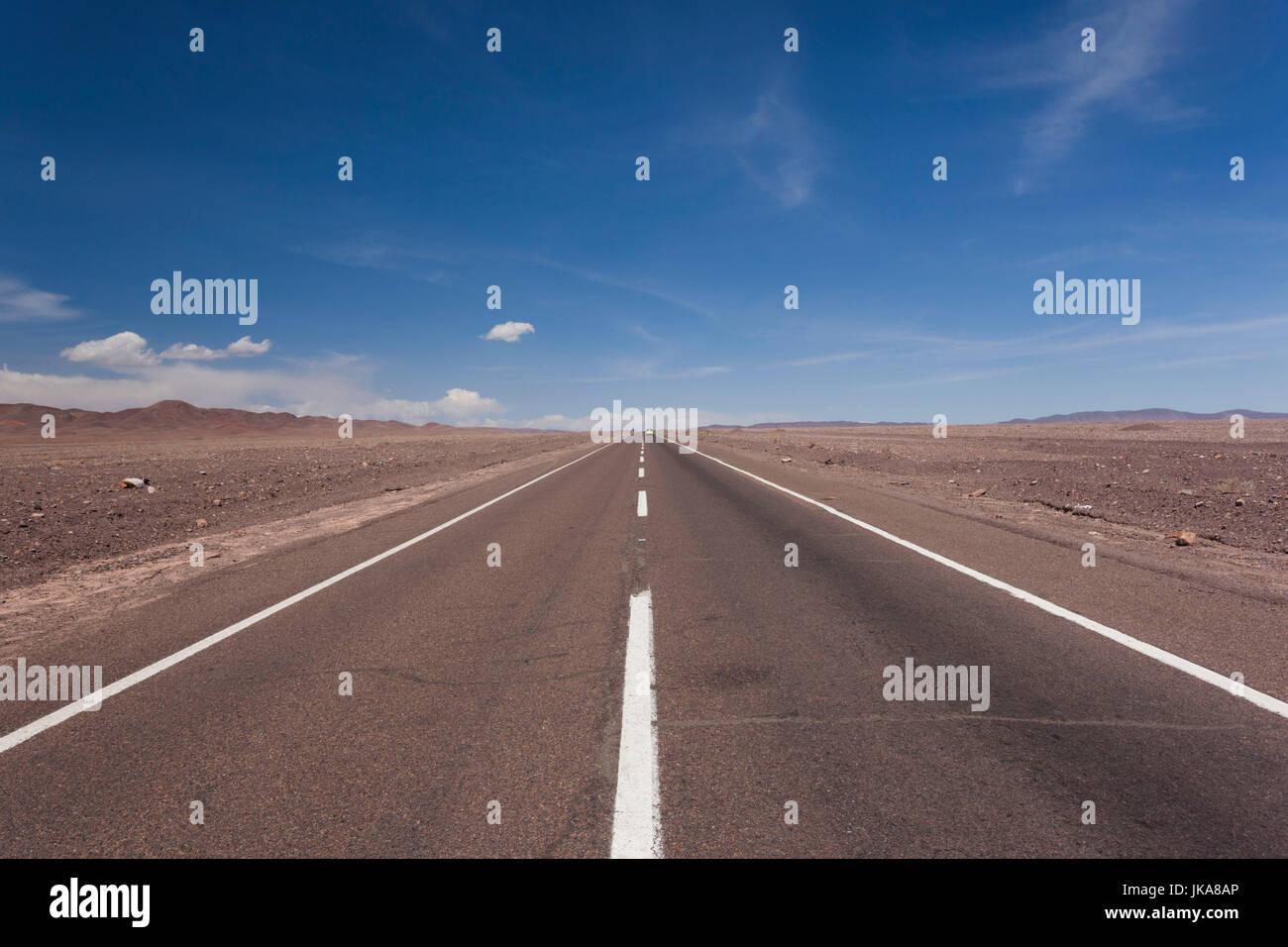 Chile, Calama, desert highway, Ruta 23 CH - Stock Image