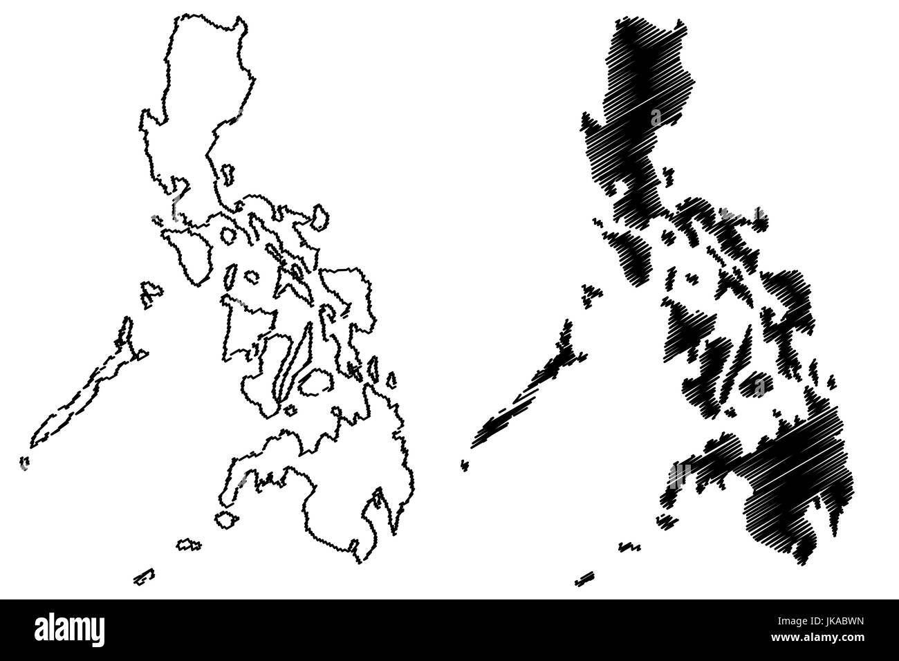 Philippines Map Black And White.The Philippines Map Black And White Stock Photos Images Alamy