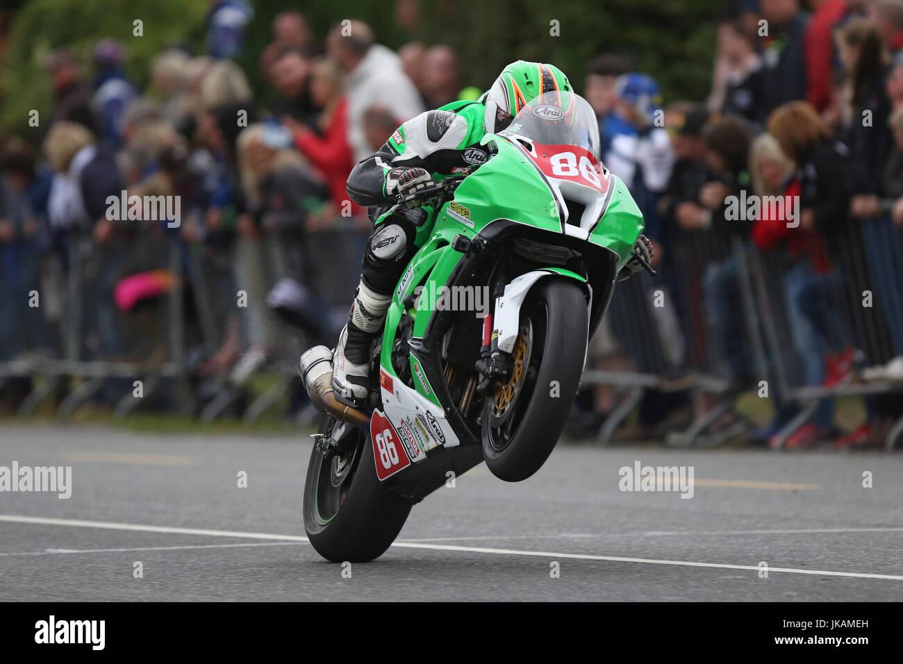 Derek McGee Walderstown 'Race Of The South' Road Races 2017 - Stock Image