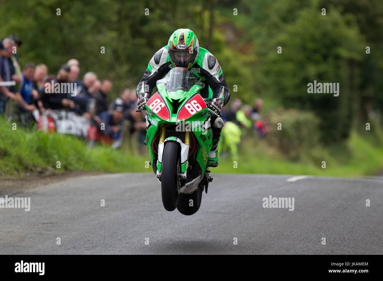 Derek McGee, Armoy 'Race Of Legends' Road Races 2016 - Stock Image