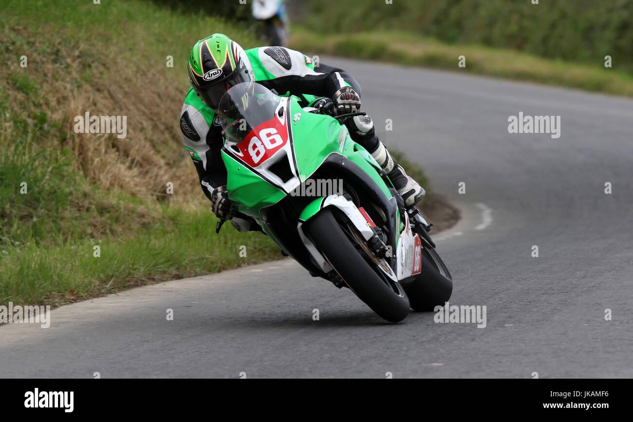 Derek McGee, Skerries 100 Road Races, Ireland 2017 - Stock Image