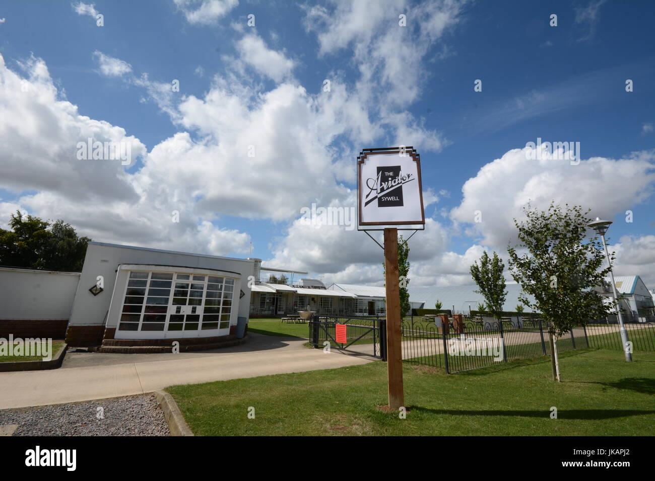 Sywell Airport  Northampton Northamptonshire - Stock Image