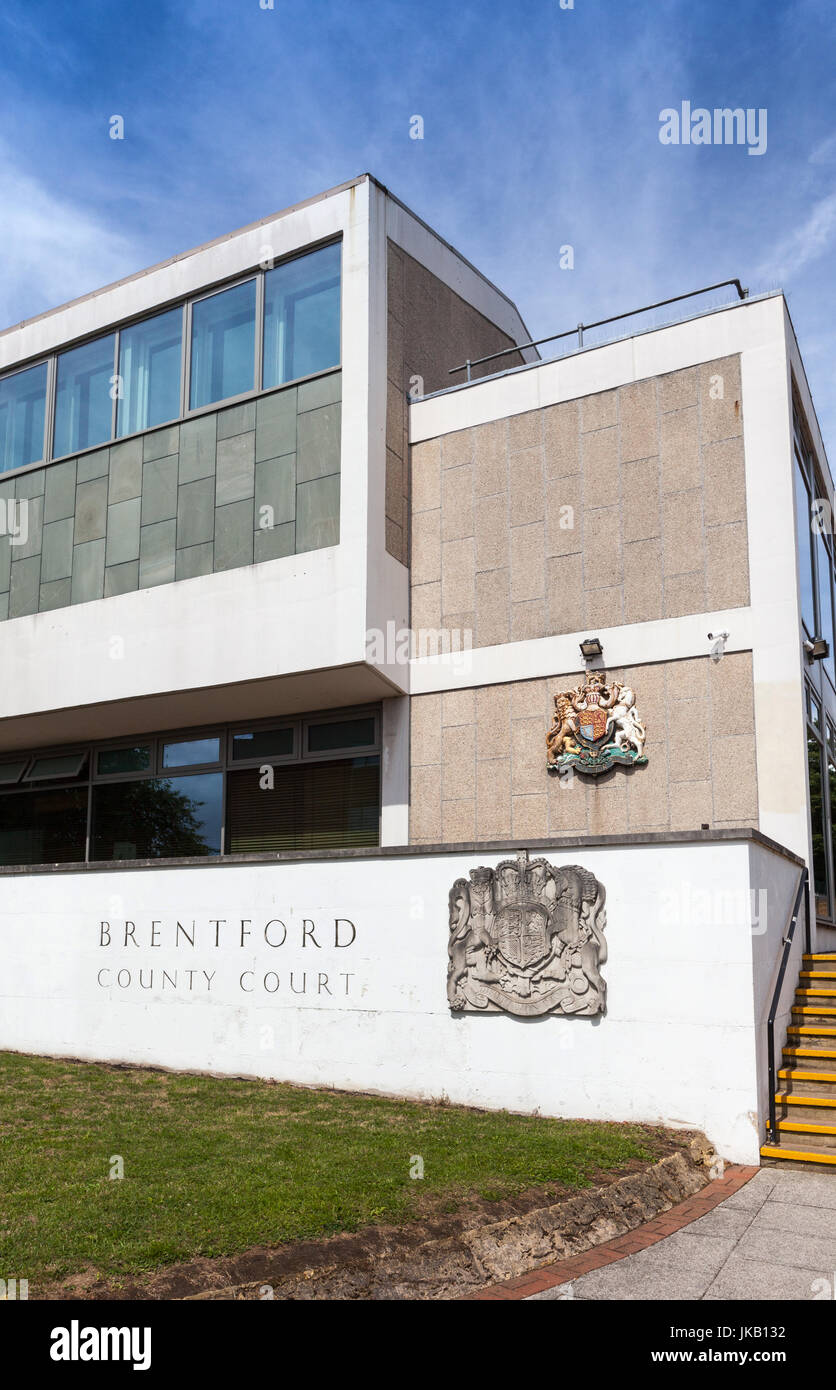 Brentford County Court and Family Court - Stock Image