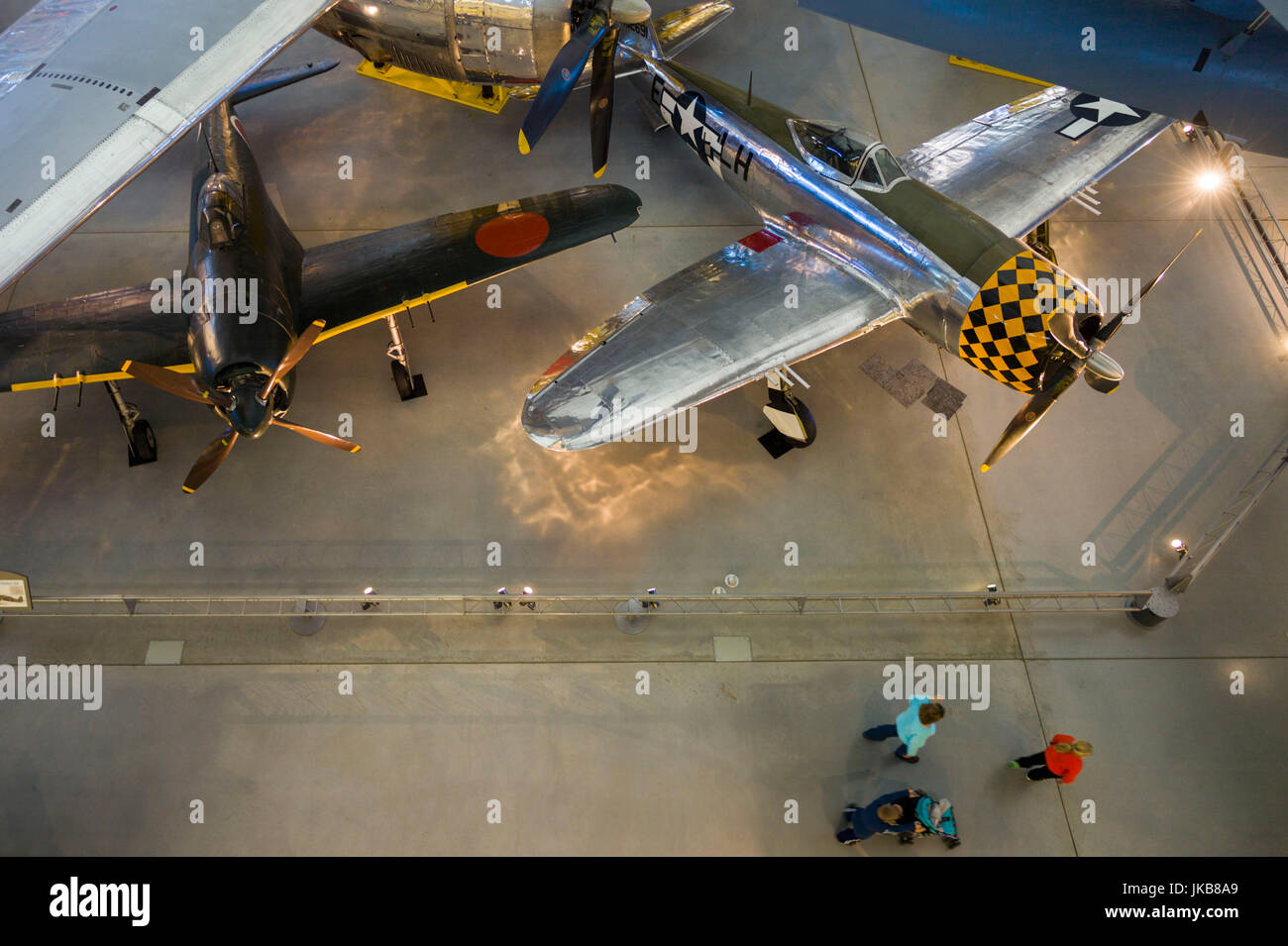 USA, Virginia, Herdon, National Air and Space Museum, Steven F. Udvar-Hazy Center, air museum, WW2-era Japanese - Stock Image