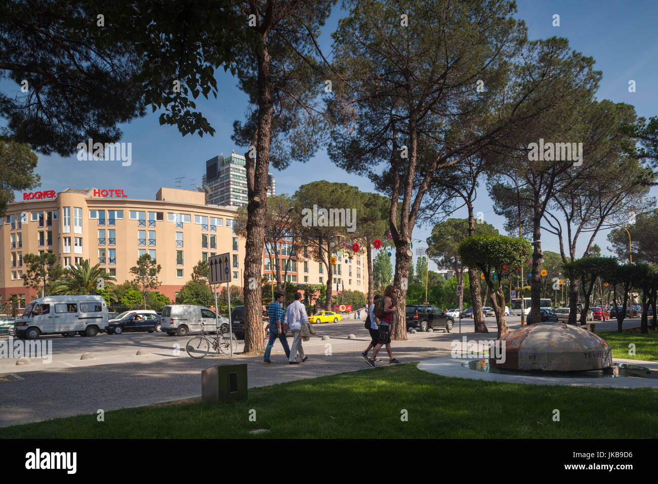 Albania, Tirana, bunker outside Blloku area, formerly used by Communist party elite and Rogner Hotel - Stock Image