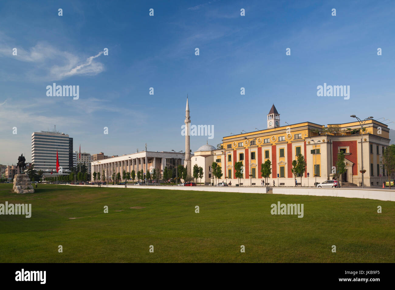 Albania, Tirana, Skanderbeg Square, buildings - Stock Image