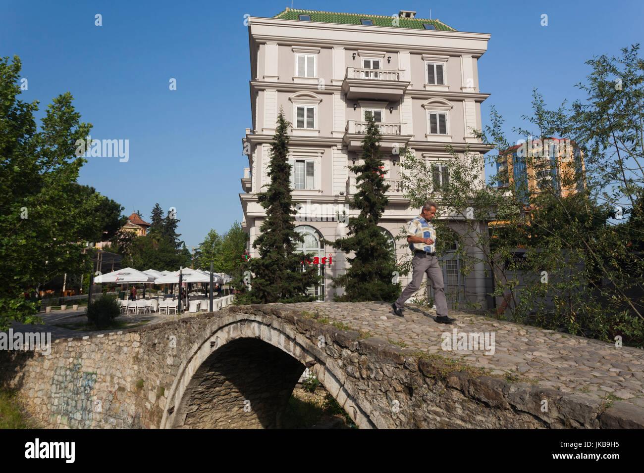 Albania, Tirana, Tanner's Bridge, old Ottoman Empire-era bridge - Stock Image