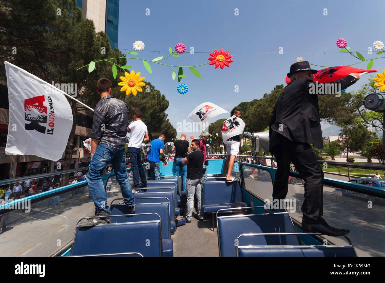 Albania, Tirana, May Day Celebration - Stock Image