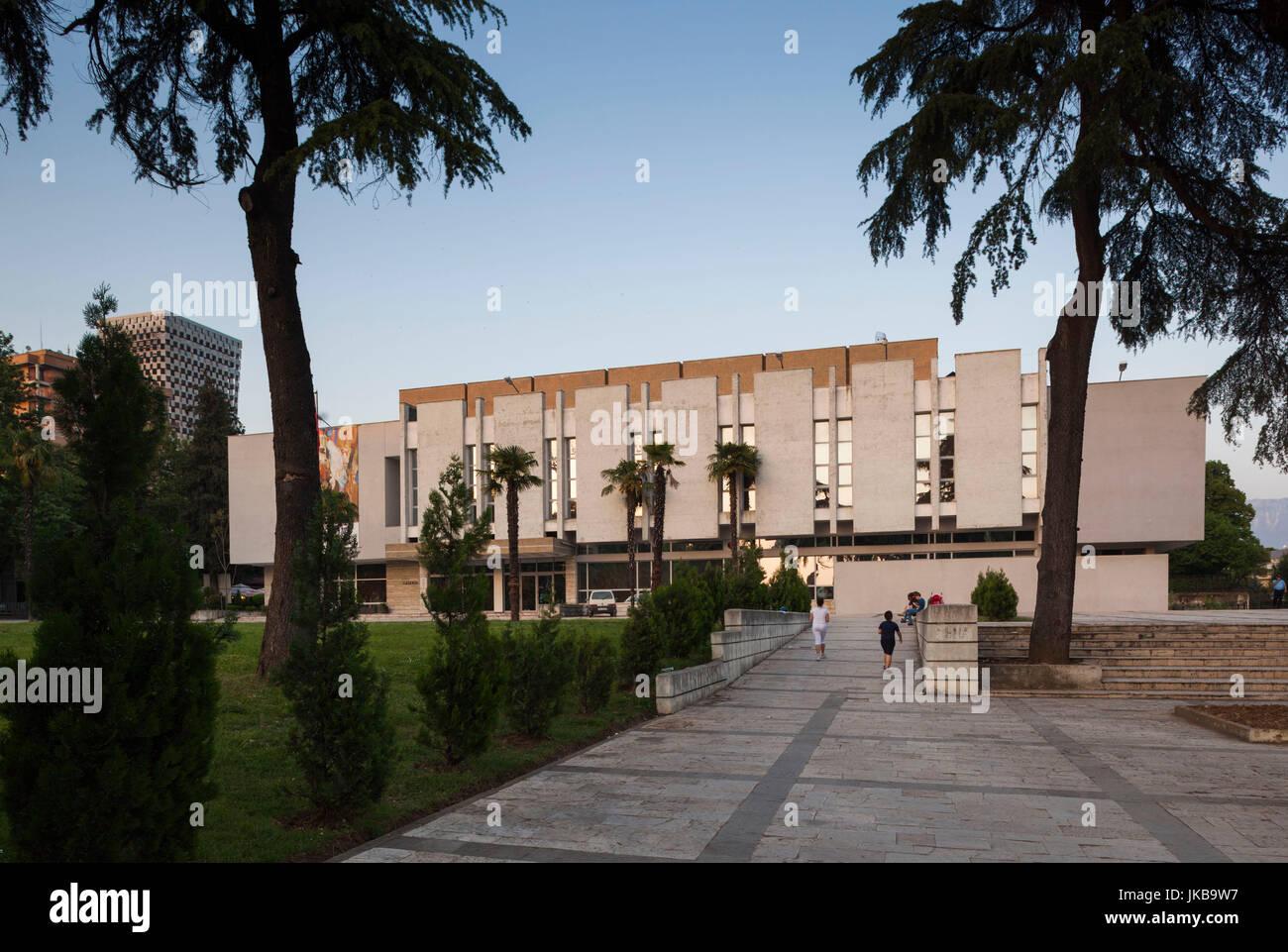 Albania, Tirana, National Art Gallery Stock Photo