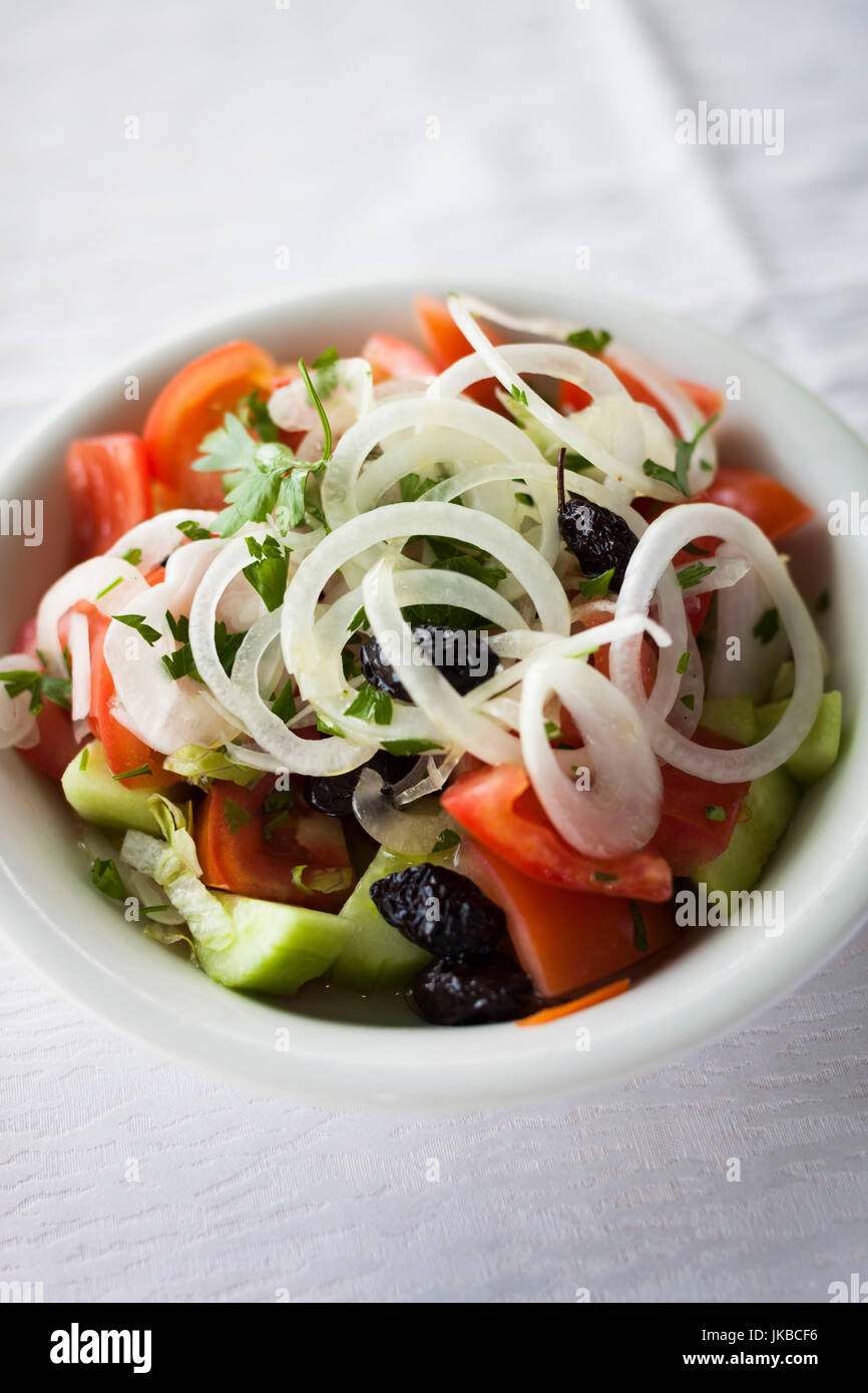 Greece, East Macedonia and Thrace Region, Kavala, Greek Salad - Stock Image