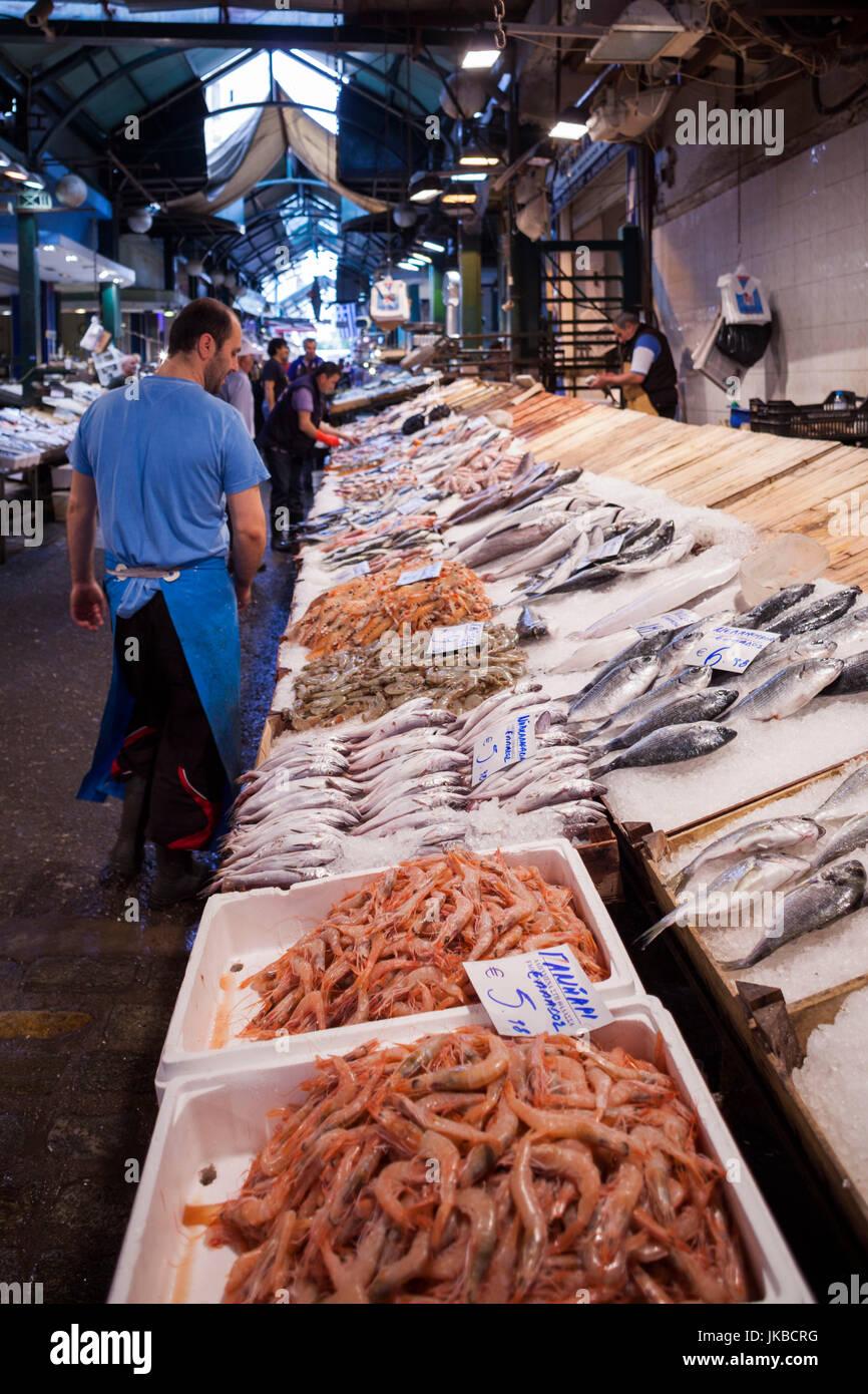 Greece, Central Macedonia Region, Thessaloniki, Modiano Market, interior - Stock Image