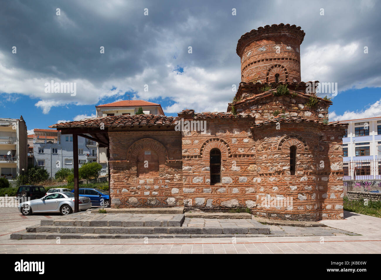 Greece, West Macedonia Region, Kastoria, Panagia Koubelidiki church, built in the 9th century AD and emblem of the - Stock Image