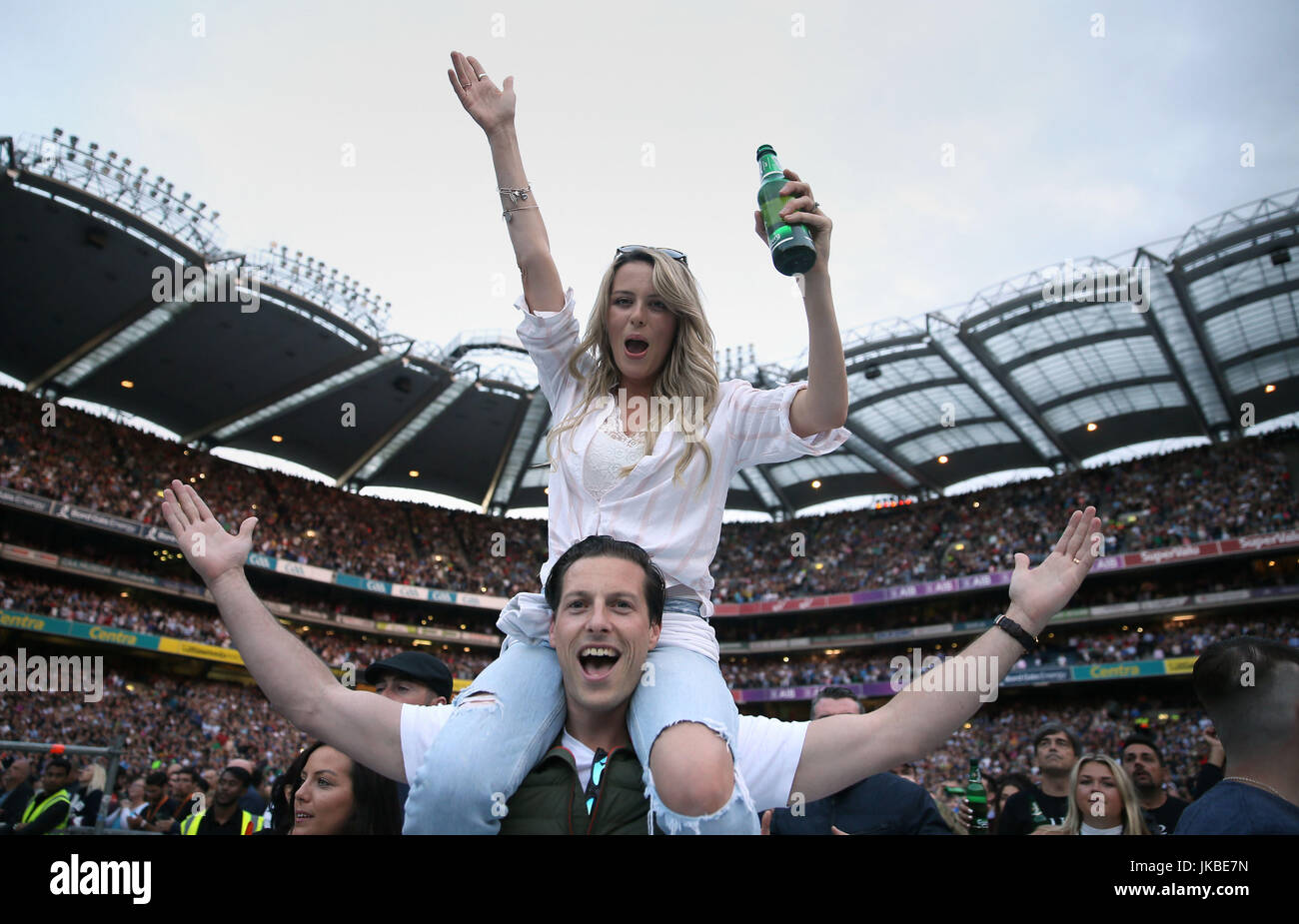Fans at the U2 concert at Croke Park in Dublin Stock Photo