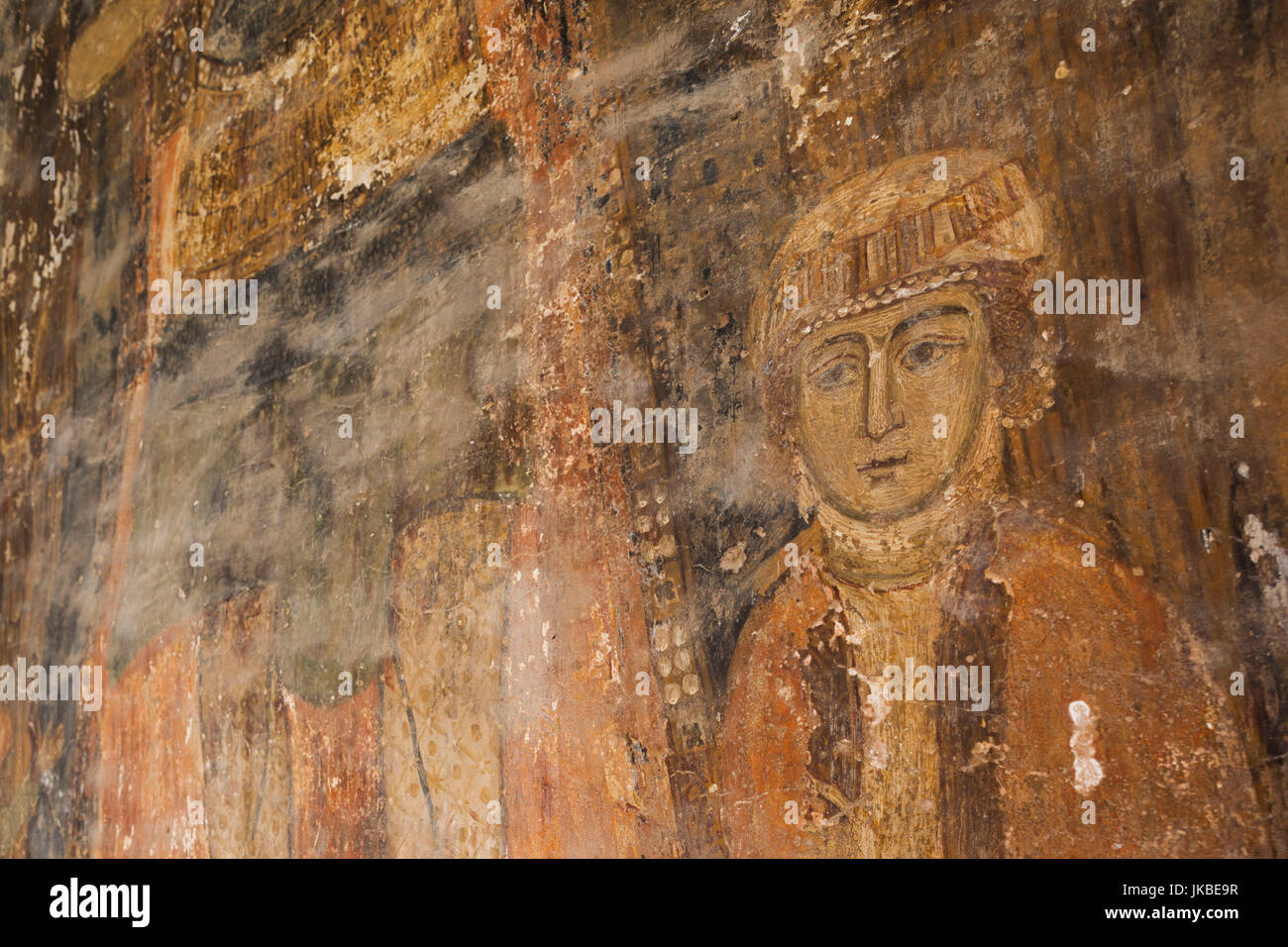 Greece, West Macedonia Region, Kastoria, Taxiarches Mitropoleos church, built in 9th century AD, frescoes - Stock Image