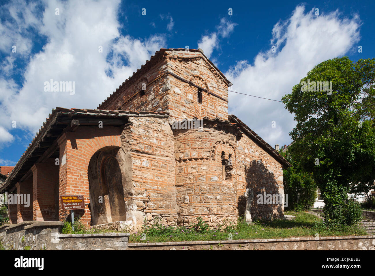 Greece, West Macedonia Region, Kastoria, Taxiarches Mitropoleos church, built in 9th century AD, exterior - Stock Image