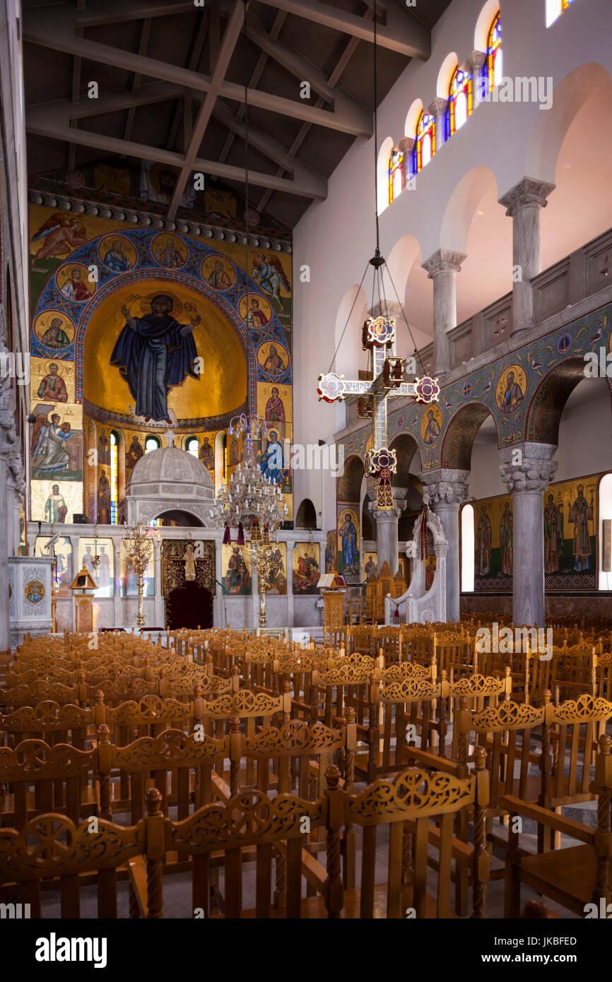 Greece, Thessaly Region, Pelion Peninsula, Volos, Agios Konstantinos church, interior - Stock Image