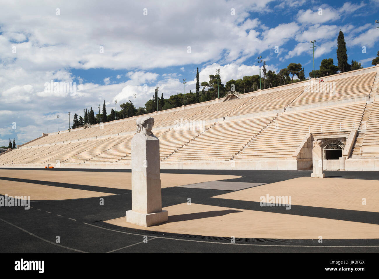 Greece, Central Greece Region, Athens, the Panathenaic Stadium, home of the first modern Olympic Games in 1896 Stock Photo