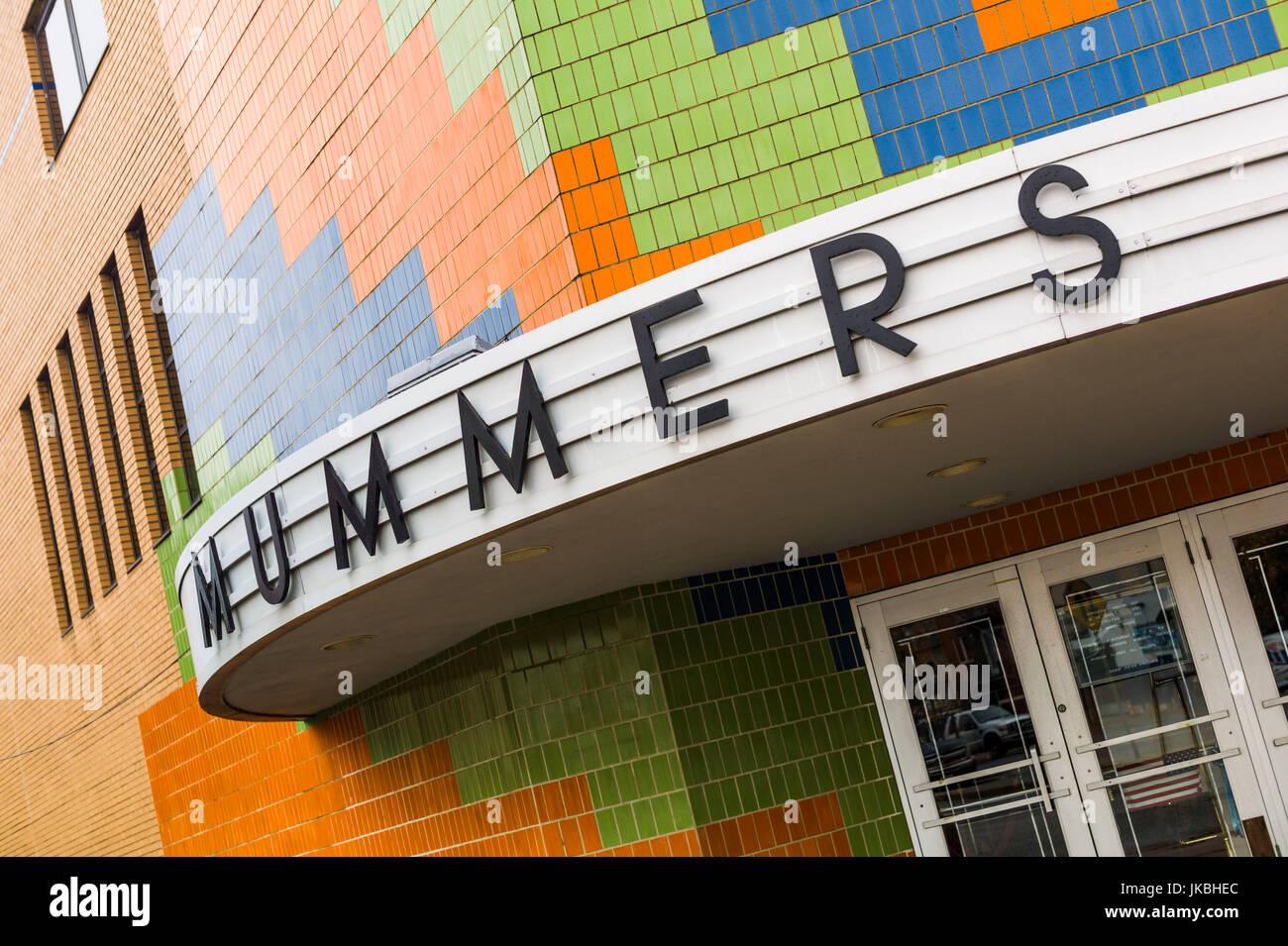 USA, Pennsylvania, Philadelphia, South Philadelphia, Mummers Museum, exterior - Stock Image