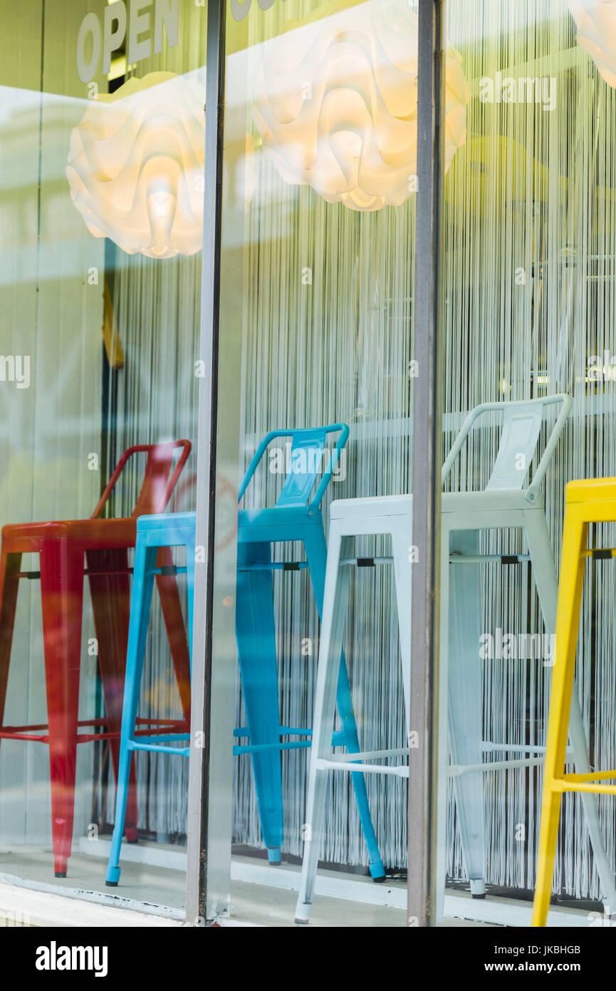 Peachy Usa Pennsylvania Philadelphia Hip Bar Stools Stock Photo Inzonedesignstudio Interior Chair Design Inzonedesignstudiocom