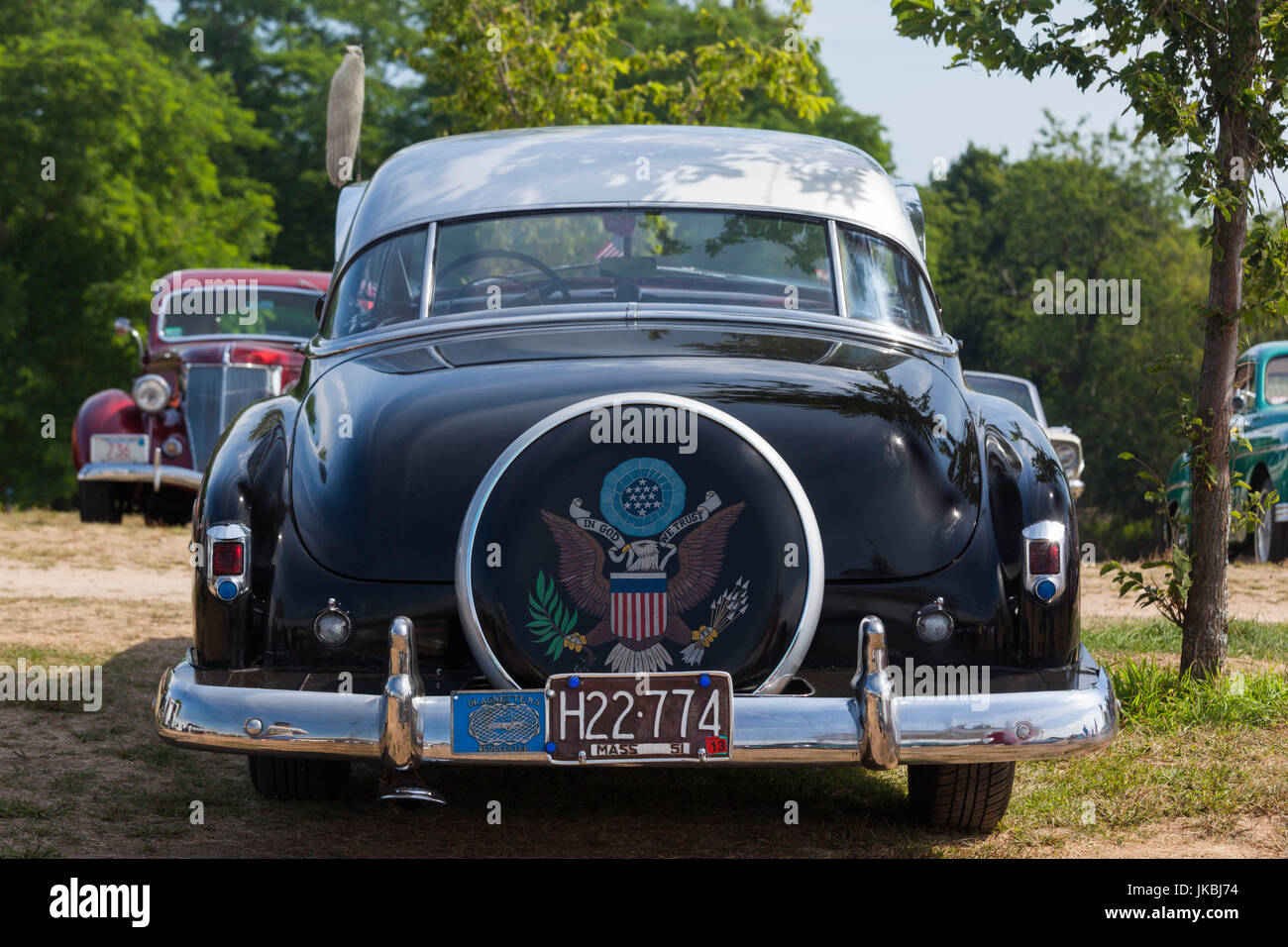 USA, Massachusetts, Gloucester, Antique Car Show, 1953 Chevy Stock ...