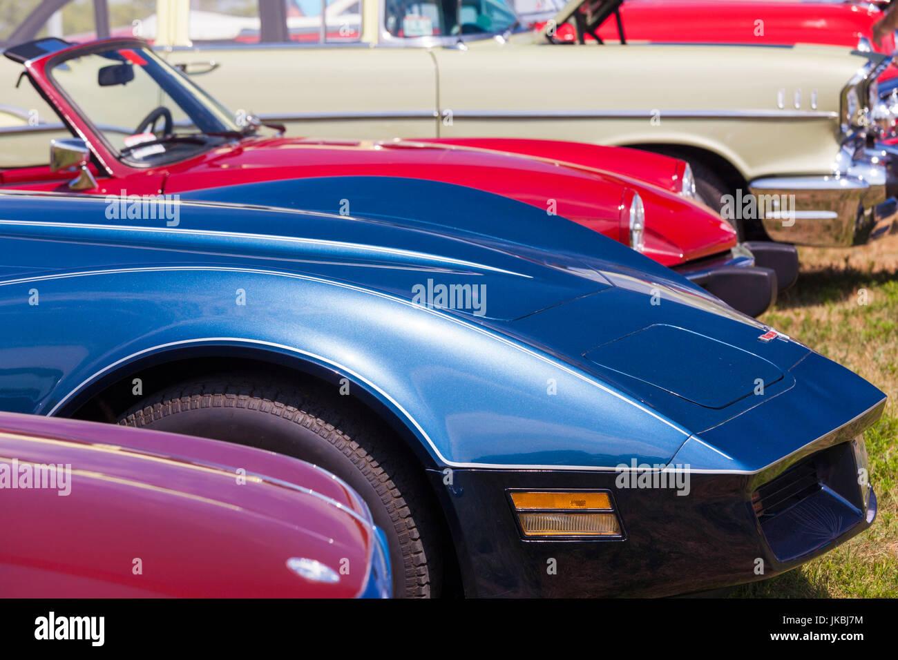 USA, Massachusetts, Gloucester, Antique Car Show Stock Photo ...