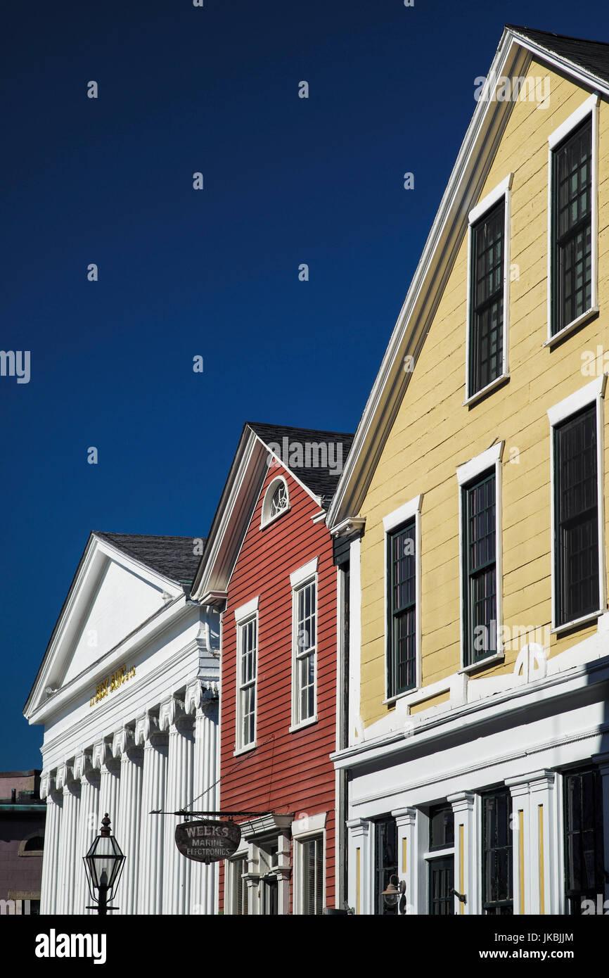 USA, Massachusetts, New Bedford, New Bedford Whaling Historical Park, Historical buildings Stock Photo