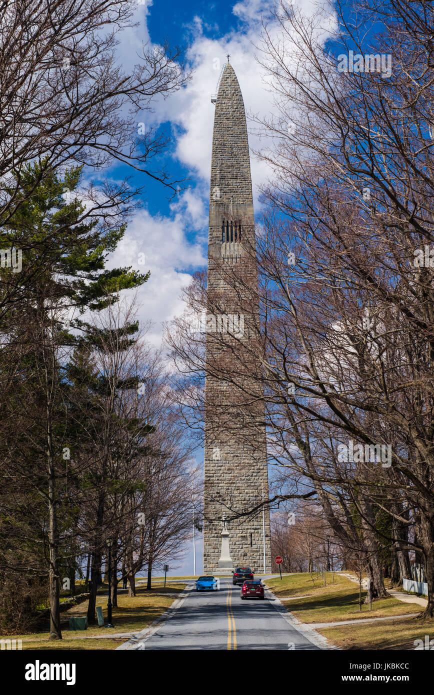 USA, Bennington, Bennington Battle Monument, commemorates American Revolutionary battle of August 16 1777 - Stock Image