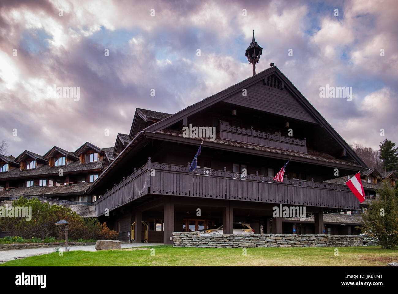 USA, Vermont, Trapp Family Lodge, hotel owned by the von Trapp Family - Stock Image