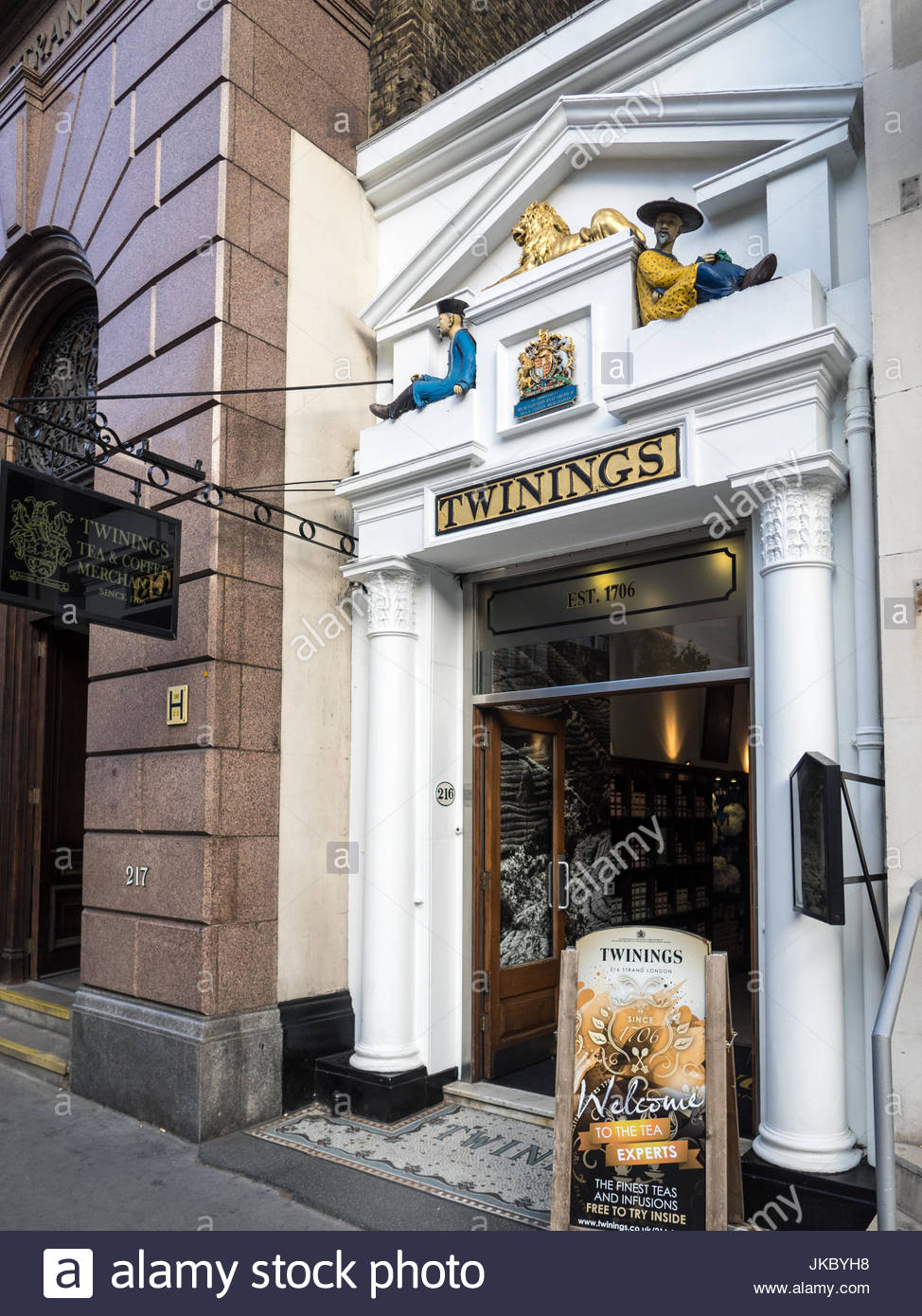 9e6e623a69 Twinings Tea historic tea store at 216 The Strand London - The oldest tea  shop in London at over 300 years old