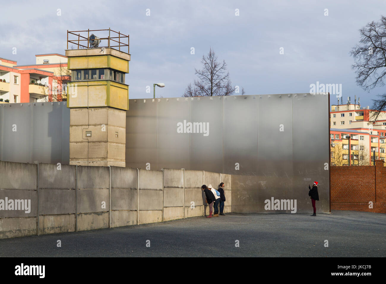 Germany, Berlin, Prenzlauer Berg, Berlin Wall Memorial, former watchtower - Stock Image