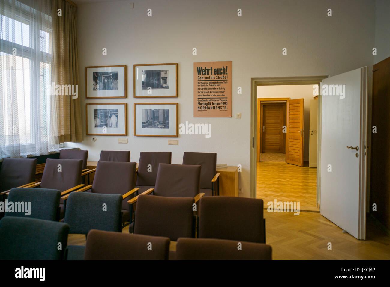 Germany, Berlin, Friendrichshain, Stasi Museum, DDR-era secret police museum in former secret police headquarters, - Stock Image