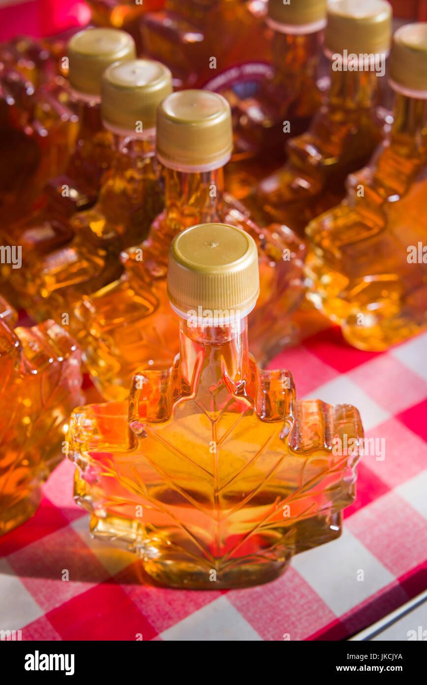 Canada, Quebec, Montreal, Marche Jean Talon market, maple syrup - Stock Image