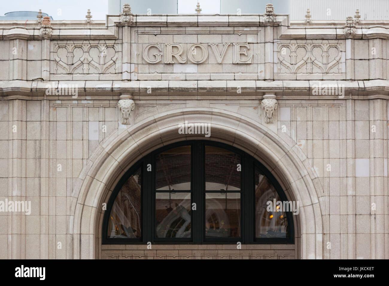 USA, North Carolina, Asheville, Grove Arcade Public Market, exterior - Stock Image