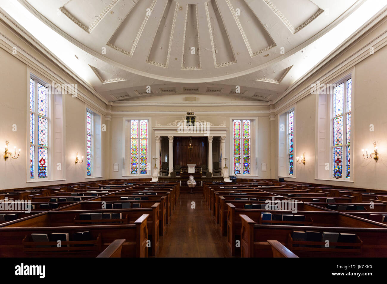 USA, South Carolina, Charleston, Kahal Kadosh Beth Elohim Synagogue, oldest continuously used synagogue in the USA, Stock Photo