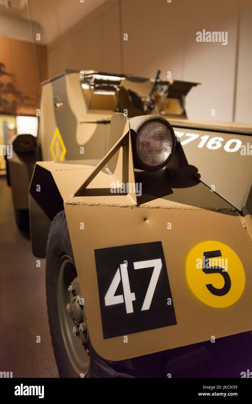 Australia, Australian Capital Territory, ACT, Canberra, Australian War Memorial Museum, WW2-era Ford Dingo army - Stock Image