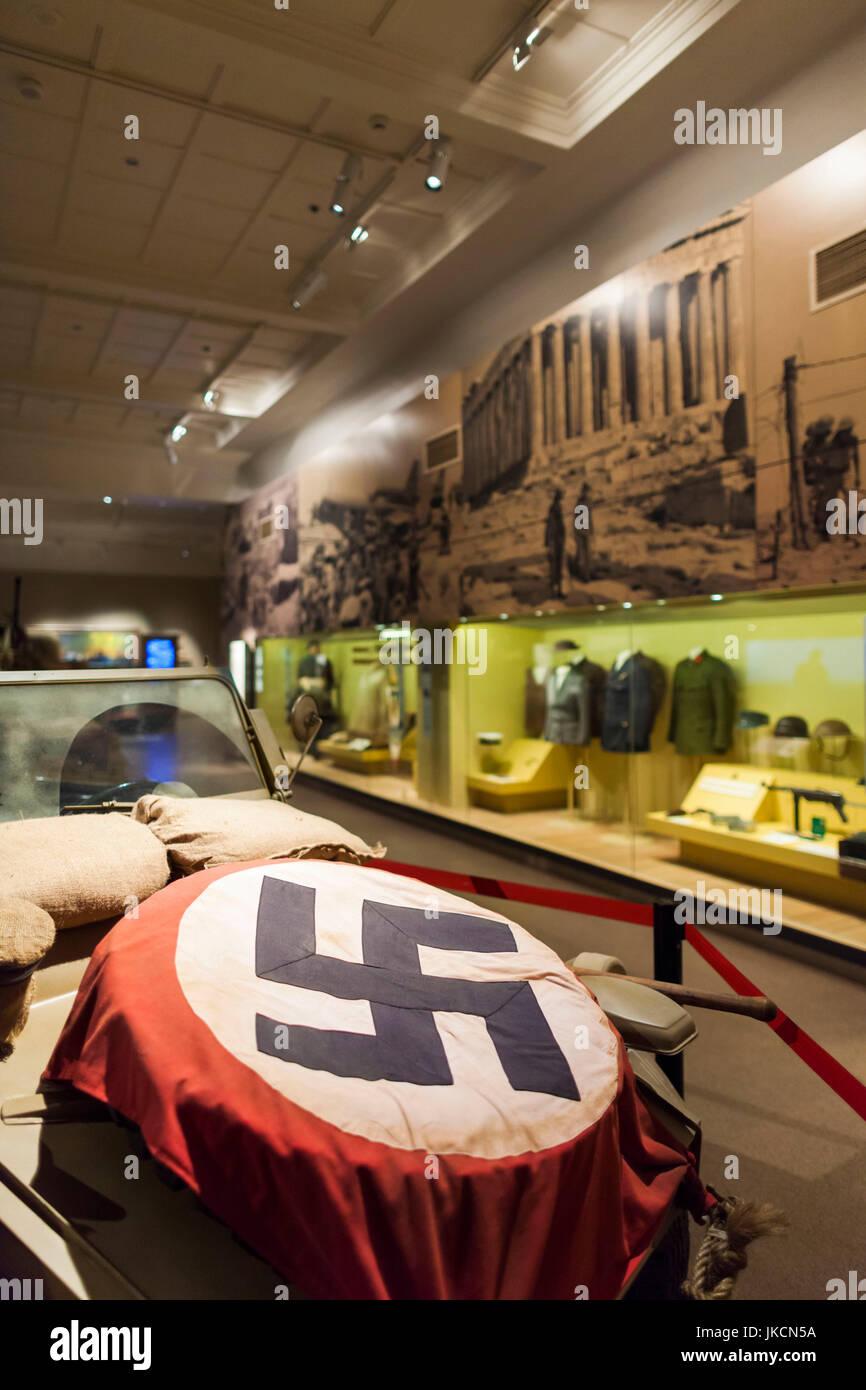 Australia, Australian Capital Territory, ACT, Canberra, Australian War Memorial Museum, WW2-era German Afrika Korps Stock Photo