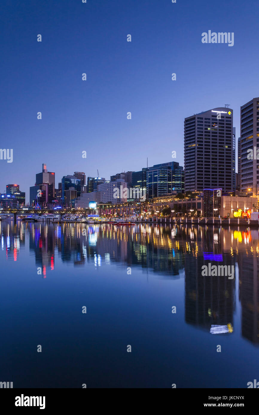 Australia, New South Wales, NSW, Sydney, Darling Harbour, dawn - Stock Image