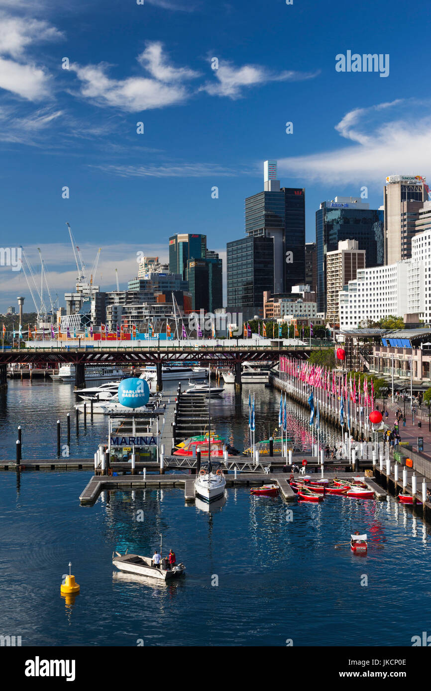 Australia, New South Wales, NSW, Sydney, Darling Harbour, elevated view - Stock Image