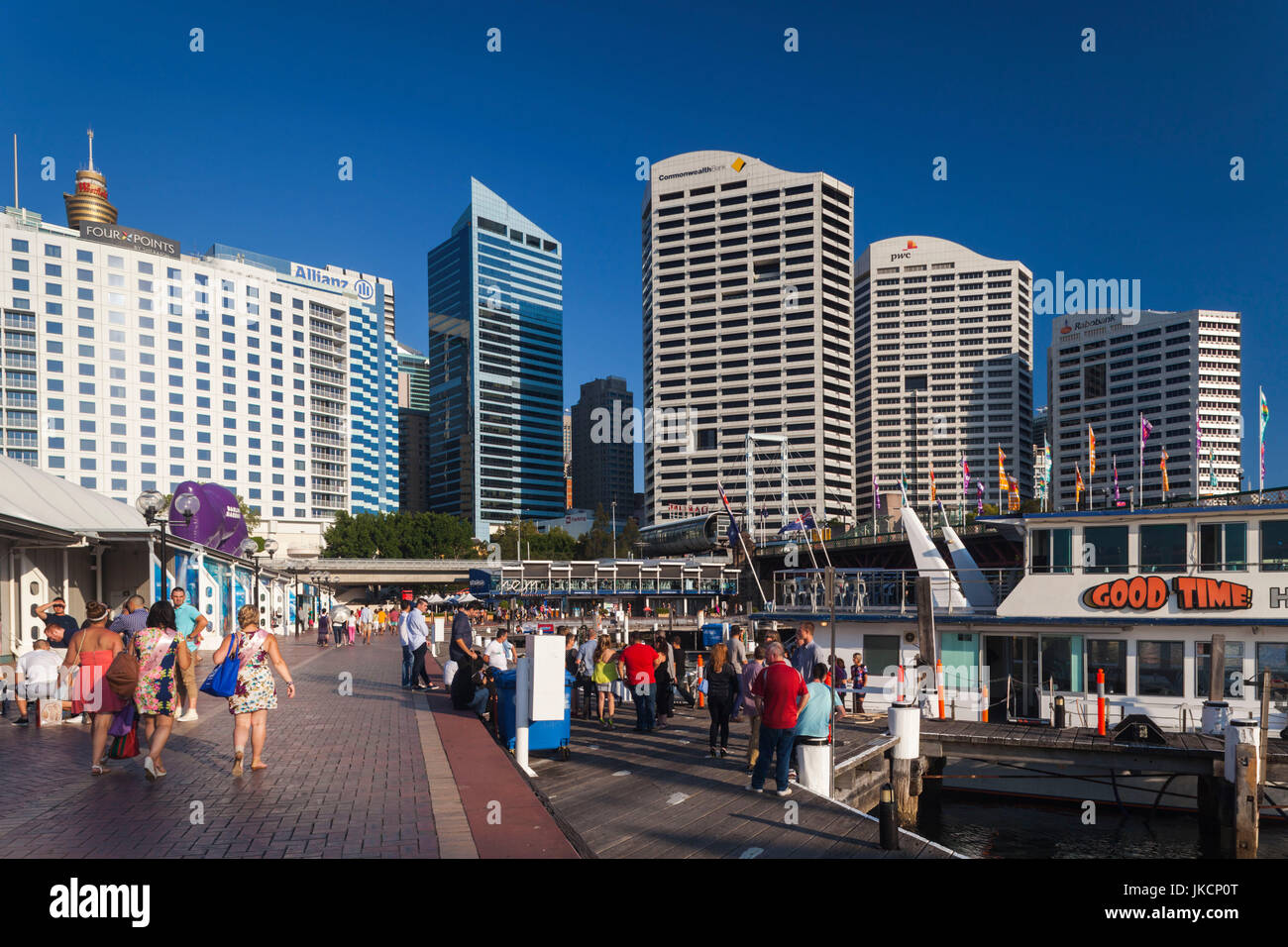 Australia, New South Wales, NSW, Sydney, Darling Harbour, late afternoon - Stock Image