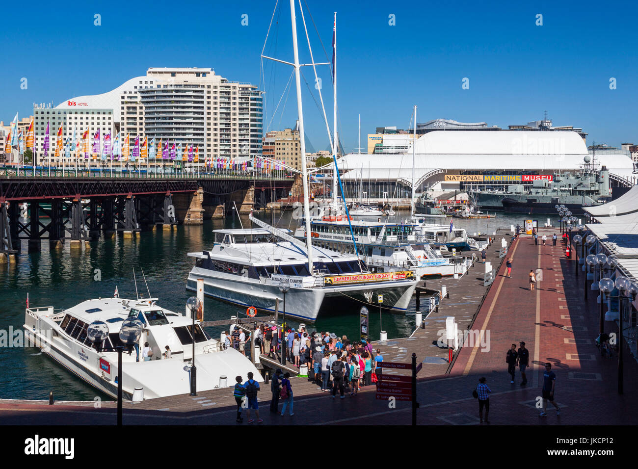 Australia, New South Wales, NSW, Sydney, Darling Harbour, morning - Stock Image