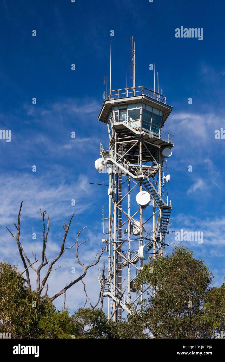 Australia, South Australia, Adelaide Hills, Crafers, Mount Lofty Summit, radio tower - Stock Image
