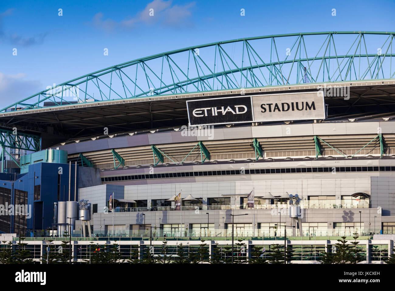 Australia, Victoria, VIC, Melbourne, Docklands, Victoria Harbour, Harbour Town Complex, Etihad Stadium - Stock Image