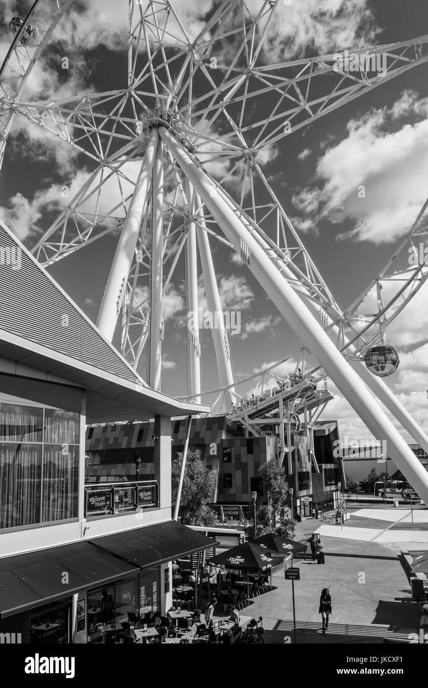 Australia, Victoria, VIC, Melbourne, Docklands, Victoria Harbour, Harbour Town Complex, Southern Star Observation - Stock Image