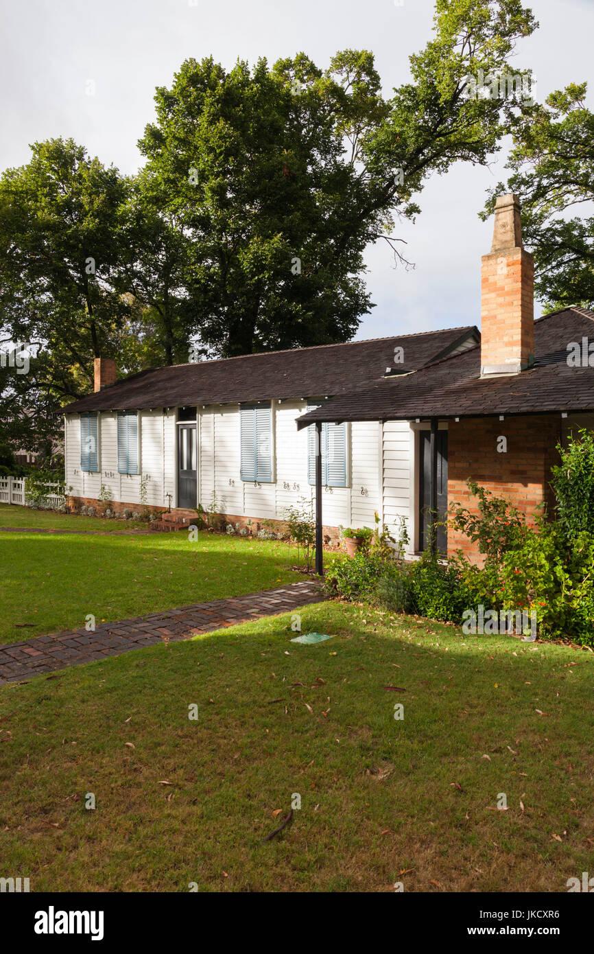 Australia, Victoria, VIC, Melbourne, Kings Domain, Governor La Trobe's Cottage, original governemnt house sent - Stock Image