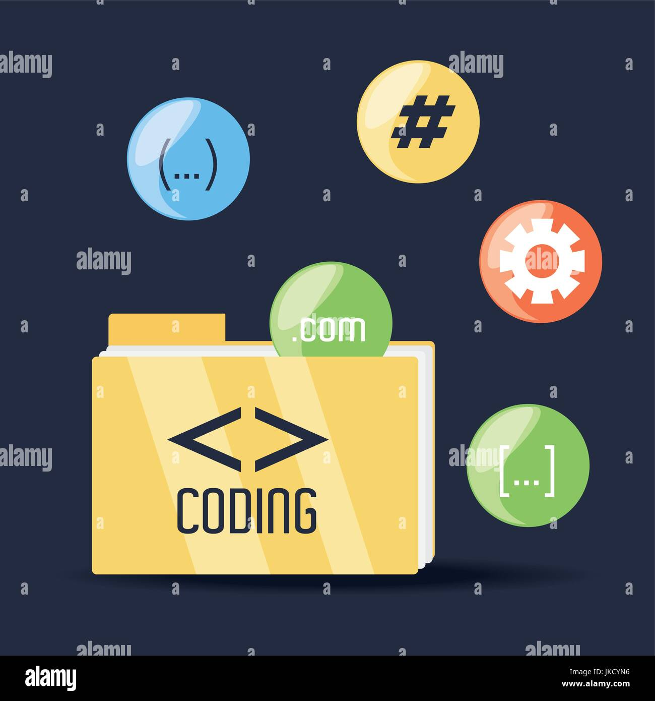 programmig and coding concept language - Stock Image